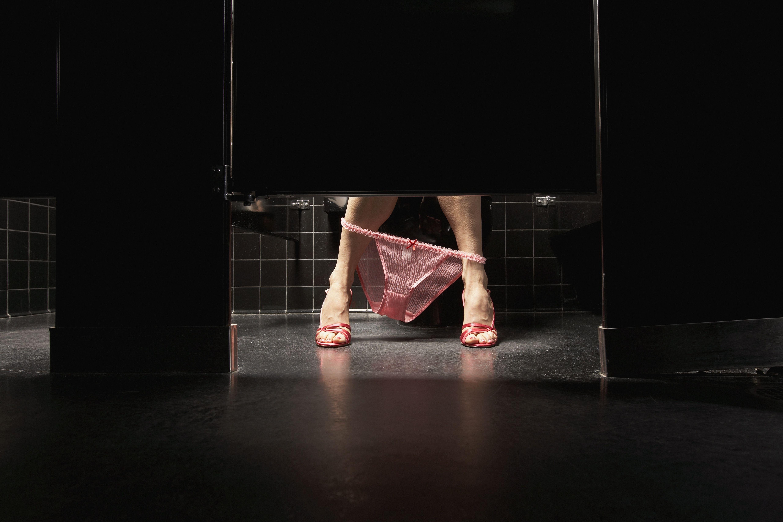Women peeing in public toilets movies