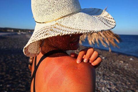 Hat, People in nature, Summer, Sun hat, Headgear, Fashion accessory, Costume accessory, Tan, Ocean, Costume hat,
