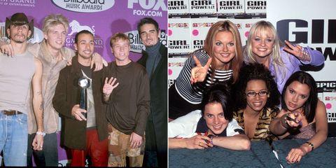 Backstreet Boys and Spice Girls