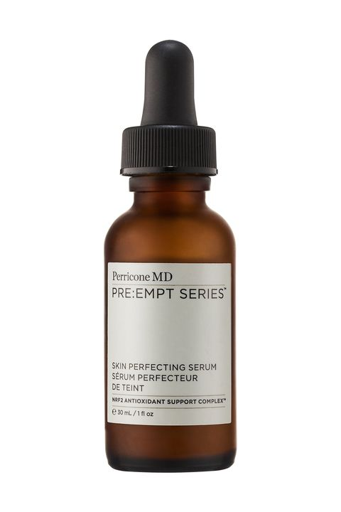 """<p>These molecules fight free radicals — harmful particles created in the cells <em>and</em> found in the air. Antioxidants are found in fruits, veggies, and products rich in vitamins A, C and E: """"They tighten and tone, while increasing radiance and decreasing puffiness, enlarged pores, discoloration, and fine lines,"""" says Dr. Perricone. A lightweight serum with plant-based nutrients can help repair sun damage and keep  skin youthful. Try <a href=""""http://www.perriconemd.com/skincare/serums/skin-perfecting-serum-MP0100.html"""">Pre:Empt Skin Perfecting Serum</a>, Perricone MD, $90   </p><p><span class=""""redactor-invisible-space""""></span></p>"""