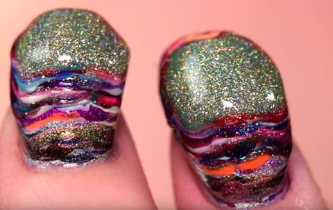 This Is What 116 Coats of Nail Polish Look Like