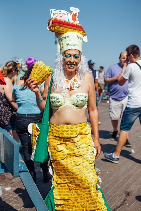 Yellow, Hat, Shorts, Abdomen, Navel, Celebrating, Costume, Waist, Festival, Carnival,