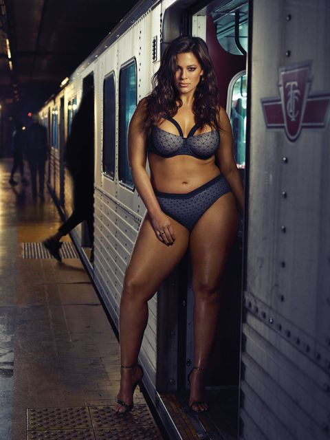 e52f79a75e0 Ashley Graham Wore Her New Lingerie on the Subway and It s Hot AF