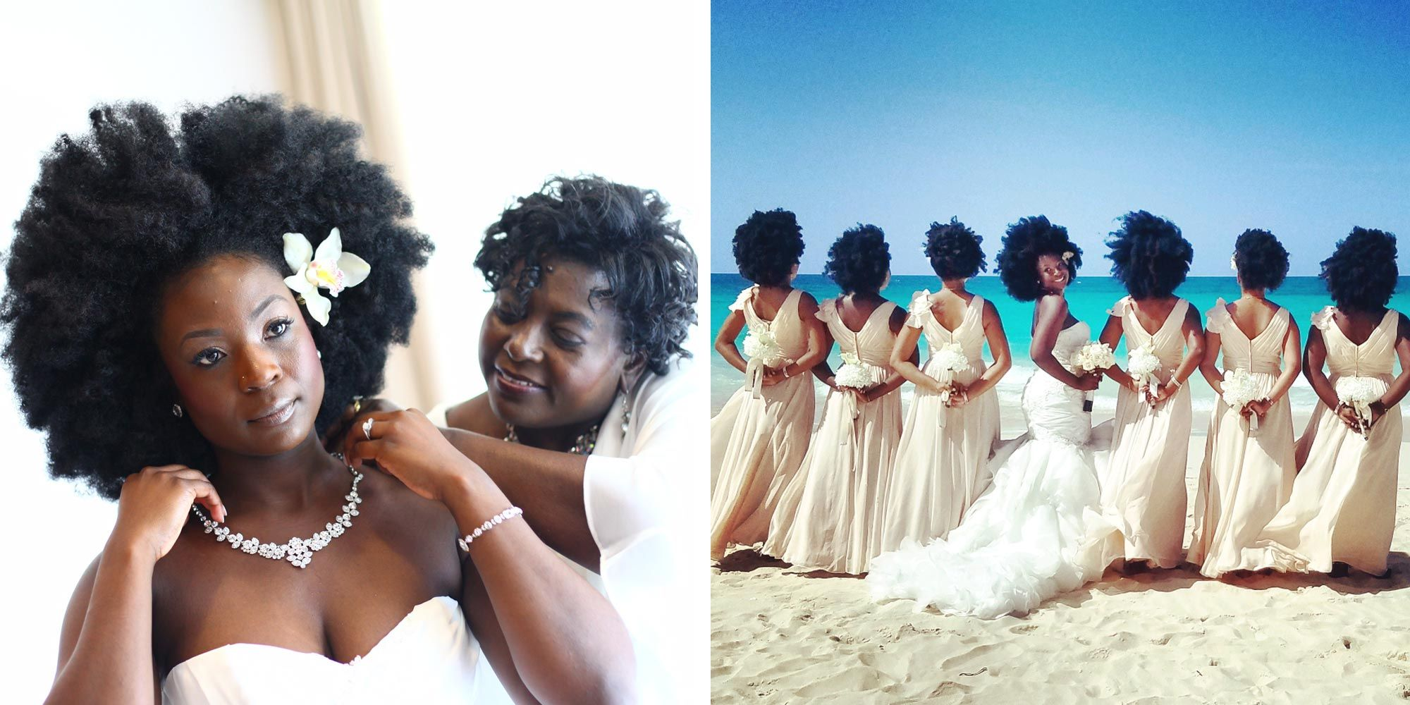 This Stunning Bride and Her Bridesmaids All Wore Natural Hair for ...