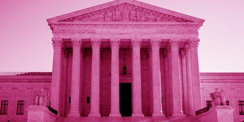 Architecture, Red, Magenta, Pink, Facade, Purple, Column, Landmark, Ancient history, Violet,