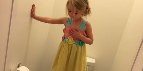 Finger, Dress, Baby & toddler clothing, Wrist, One-piece garment, Thumb, Day dress, Blond, Bracelet, Embellishment,