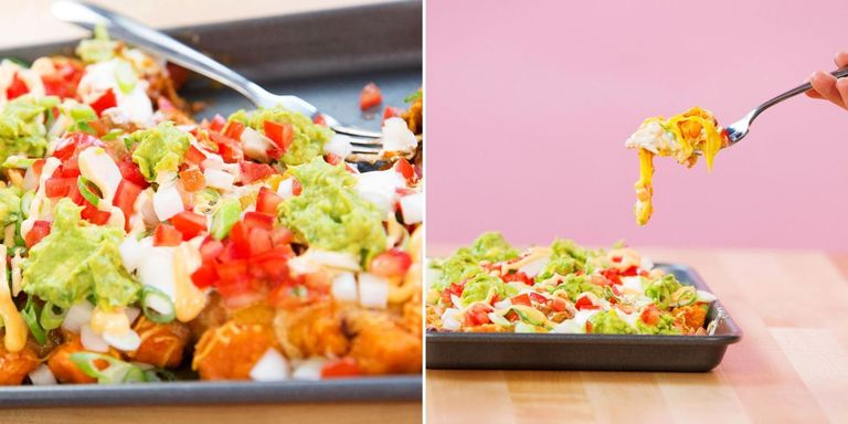 Make Everything Better With These Chili Cheese Sweet Potato Totchos