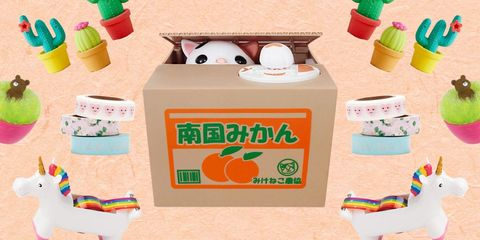 Box, Peach, Carton, Packaging and labeling, Household supply, Cardboard, Paper product, Fruit, Plastic, Label,