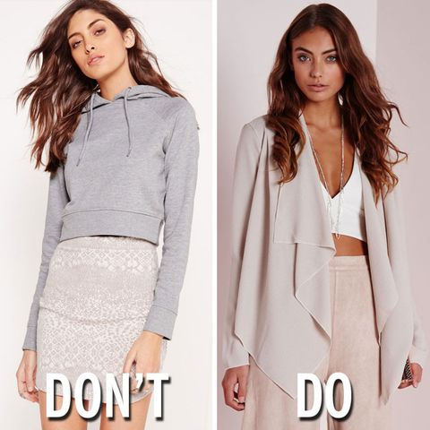 What to wear to a wedding 2017 wedding fashion dos and donts cropped grey hoodie missguided 29 grey blazer missguided junglespirit Image collections