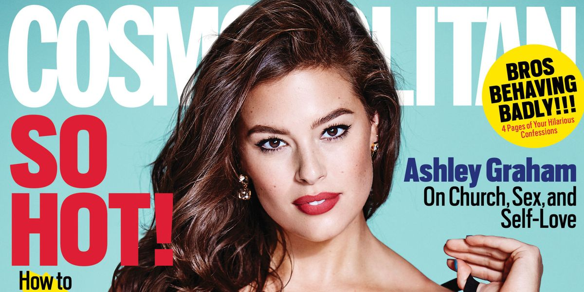 688ce6cde205a Ashley Graham on August 2016 Cosmopolitan Cover - Cosmo Cover Stars