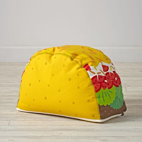 "<p>Everyone on the block will be taco-ing about how cool your pouf is. </p><p>Find it at <a href=""http://www.landofnod.com/taco-pouf/s145764"">The Land of Nod</a>, $79. </p>"