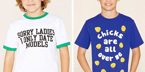 Forever 21 Selling Sexist T-Shirts for Boys as Young as 5