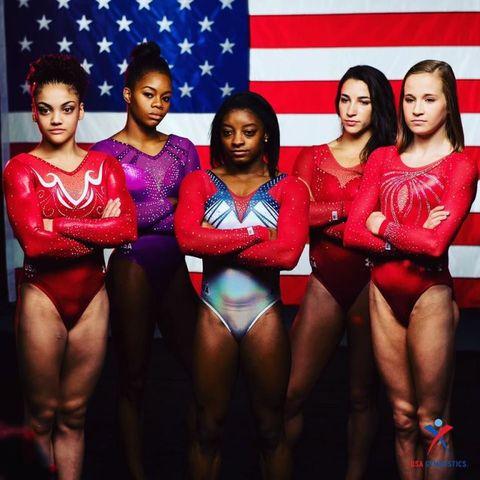 Sportswear, Flag, Leotard, Thigh, Maillot, One-piece swimsuit, Flag of the united states, Gymnastics, Artistic gymnastics, Swimwear,
