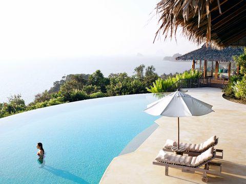 Resort, Swimming pool, Property, Vacation, Leisure, Tropics, House, Tourism, Building, Lagoon,