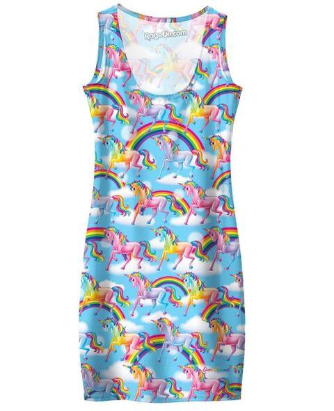 Blue, Dress, Pattern, Textile, One-piece garment, Aqua, Day dress, Teal, Turquoise, Sleeveless shirt,