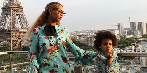 e69b40862 Beyoncé and Blue Ivy Carter Are Twinning in Gucci - Beyoncé Paris ...