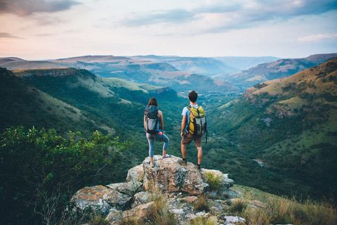 <p>You're active, competitive, and happiest when adrenaline's coursing through your veins, so ask your partner to plan something heart-pounding. Test your limits with a hike that doesn't mess around.</p>