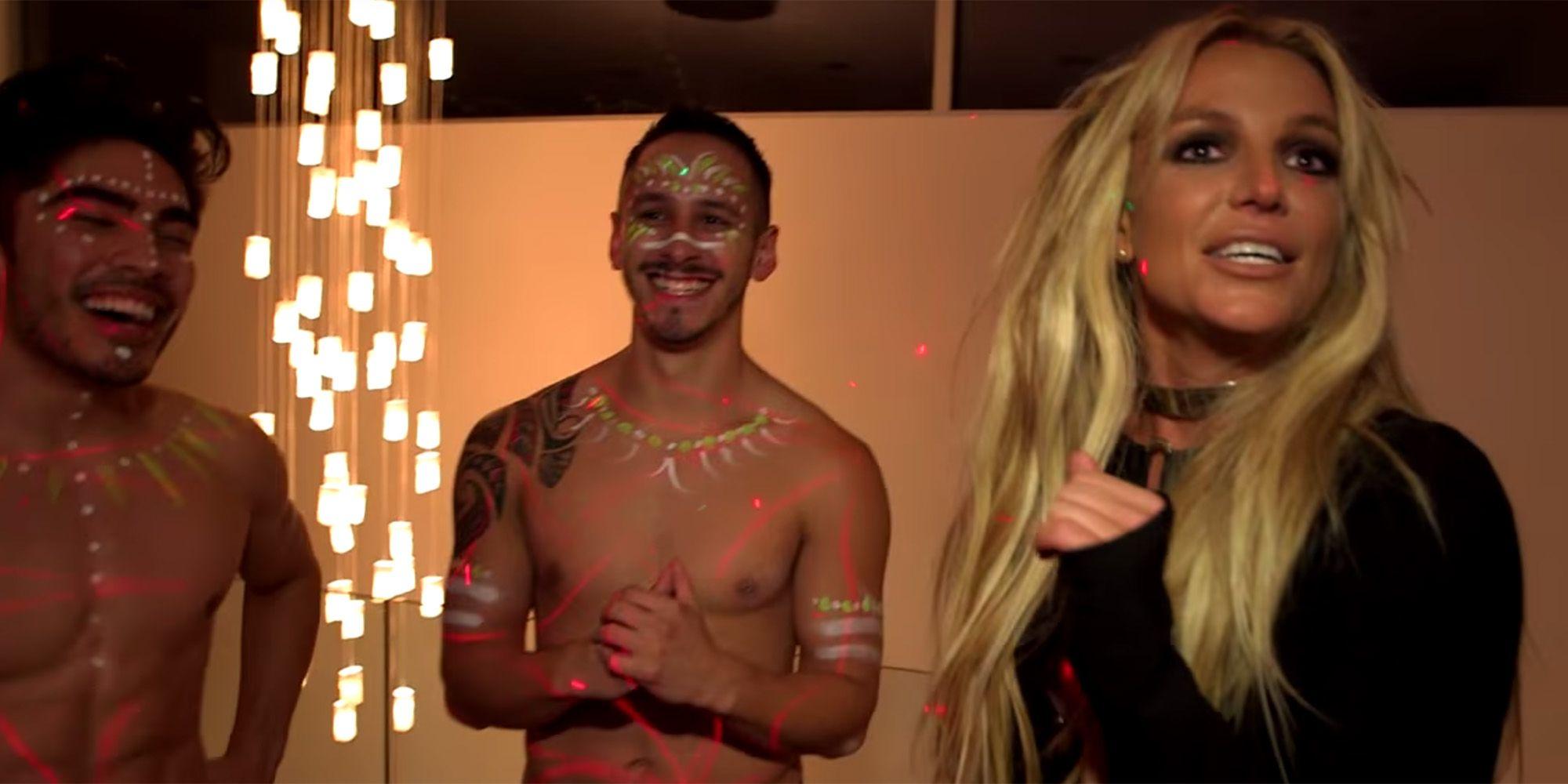 Britney Spears Pranks Jimmy Kimmel with Half Naked Dancers - Britney ...