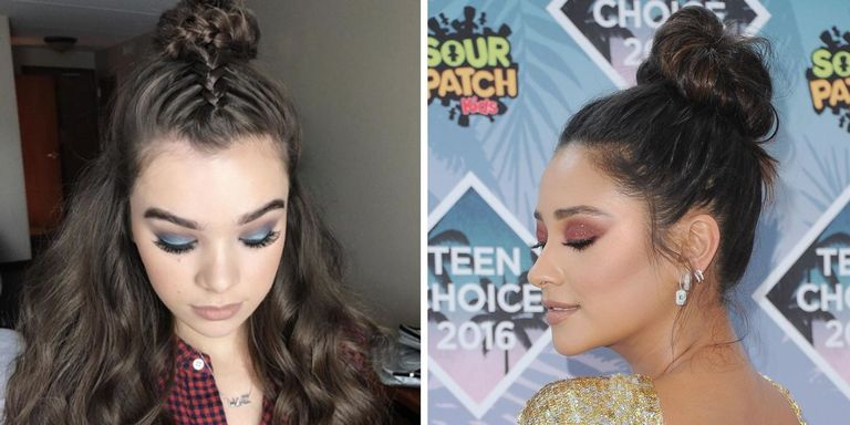These Celebs Made the Topknot Really Fresh by Adding This 1 Thing