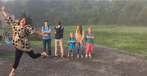 Look at This Mom Jumping With Joy When She Sends Her Kids Back to School