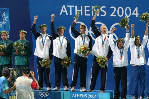 Award, Uniform, Medal, Award ceremony, Team, Championship, Crew, Competition, Gold medal, Stage,