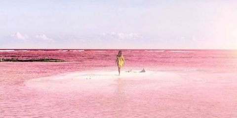 The Photos of This Naturally Pink Lagoon in Mexico Are Out of This World