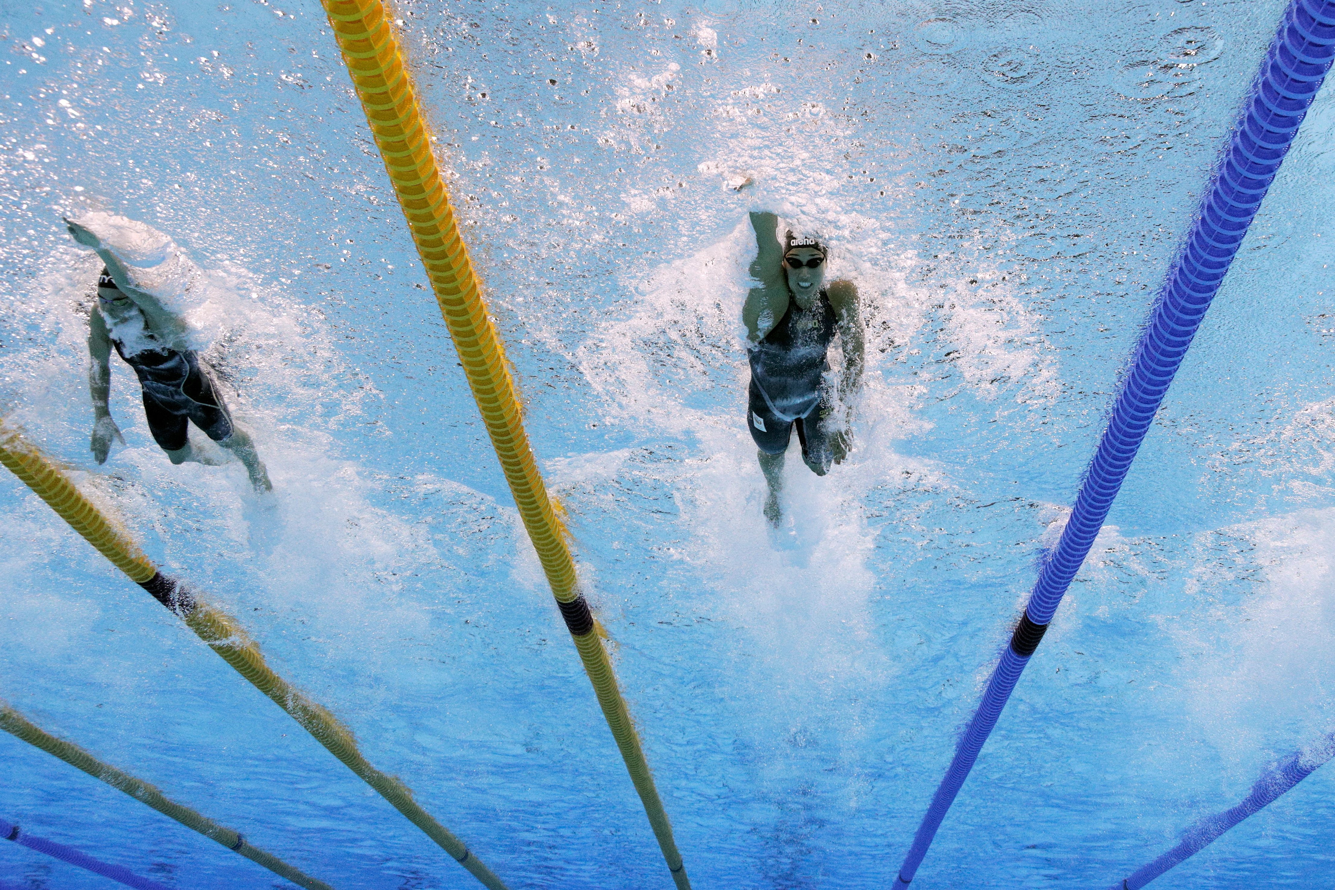 the olympic swimming pool may have given some swimmers an unfair advantage - Olympic Swimming Pool Lanes