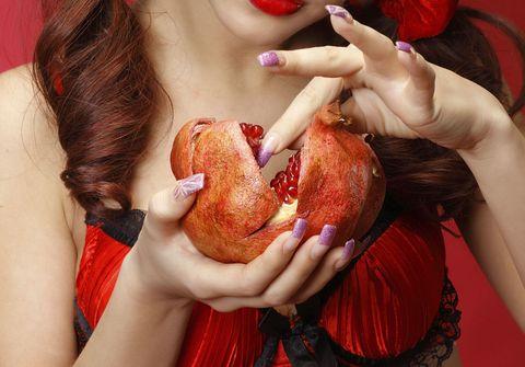 Human, Lip, Finger, Red, Hand, Food, Nail, Carmine, Dish, Flesh,