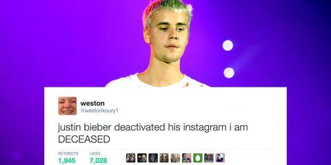 justin bieber instagram reaction