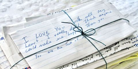 writing a love letter to your ex