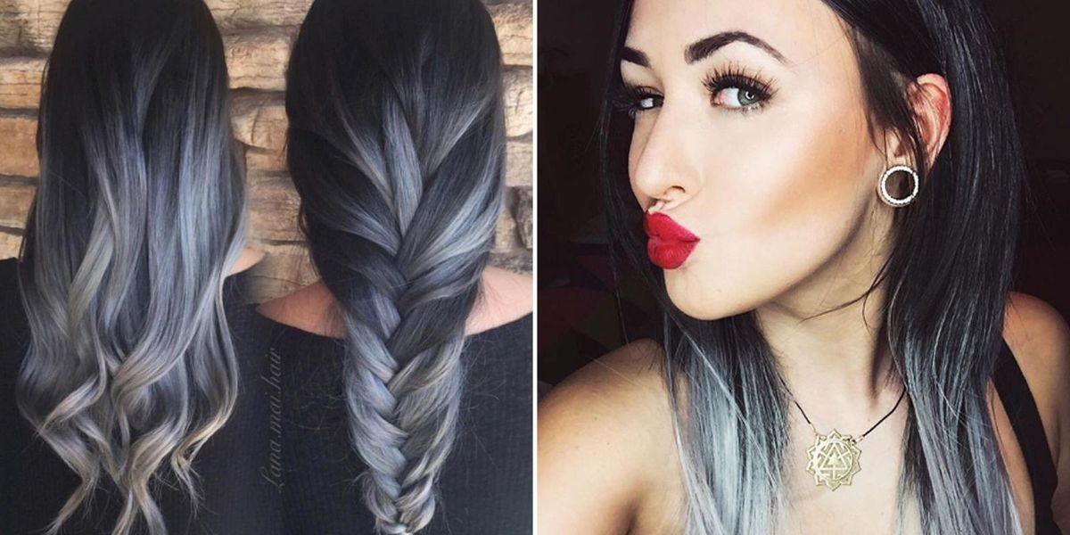 gray ombr hair trend for fall 2016 best ombr hair ideas. Black Bedroom Furniture Sets. Home Design Ideas