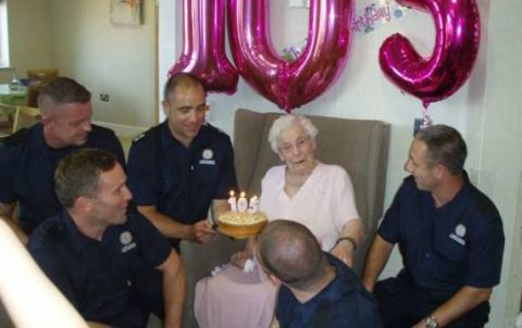 This 105 Year Old Woman Only Wanted 1 Thing For Her Birthday Sexy Firefighters