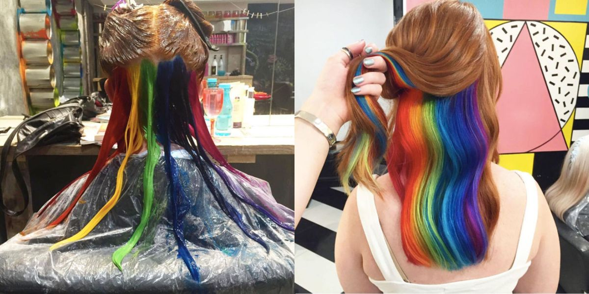 Hidden Rainbow Hair Is The Latest Trend Blowing Up In London