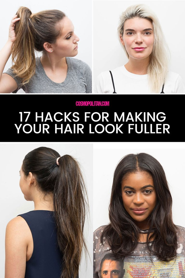 17 Hacks That Ll Make Your Hair Look So Much Fuller And Thicker Beauty Cosmopolitan Middle East