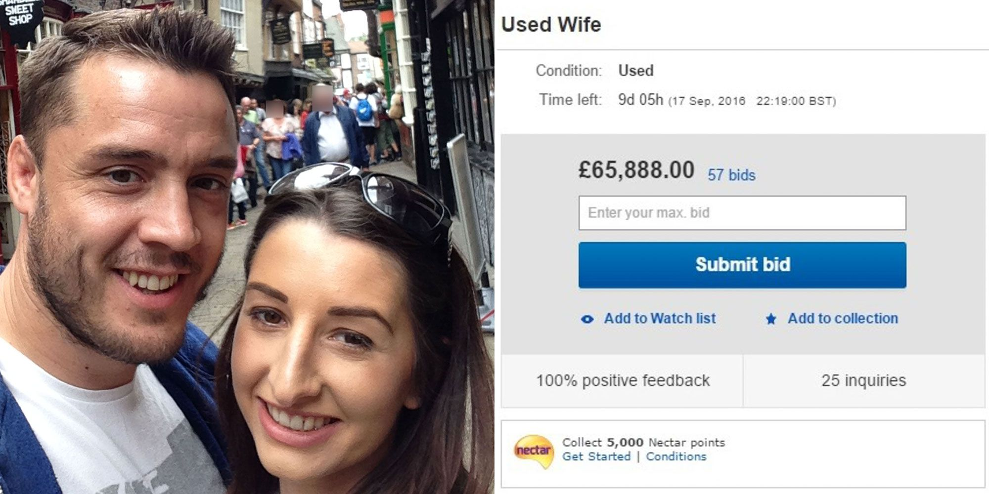 Husband Lists Wife On Ebay After Getting Mad At Her