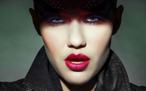 Nose, Mouth, Lip, Cheek, Skin, Chin, Eyebrow, Eyelash, Red, Black hair,