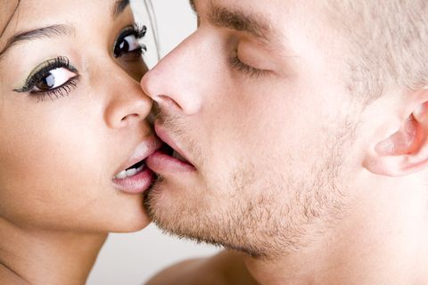 Lip, Cheek, Skin, Chin, Eyelash, Forehead, Eyebrow, Facial hair, Jaw, Interaction,