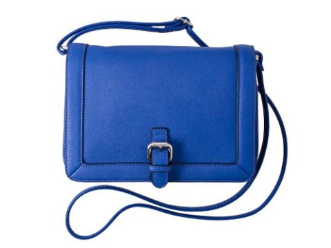 """meta- Crossbody Bags For Women   Something Blue  <p>This faux leather, structured bag takes any outfit to the next level thanks to its cobalt blue hue.</p> <p>Merona Saffiano Crossbody in Blue, $18, <a title=""""target"""" href=""""http://www.target.com/p/merona-small-crossbody-with-chain-blue/-/A-14249725#prodSlot=medium_2_33&term=crossbody%20bags"""" target=""""_blank"""">target.com</a></p>"""