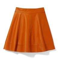 Alice & Olivia Pleated Leather Skirt, $495&#x3B; net-a-porter.com