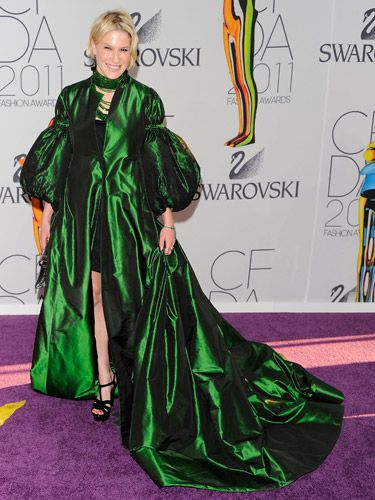 Apparently the Wizard of Oz has been evicted because this woman has now taken up residence in the Emerald Castle.