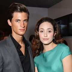 Garrett Neff and Emmy Rossum at the Macys Passport Gala.