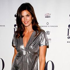 Supermodel Cindy Crawford arrives at the 30 Days of Fashion Party.