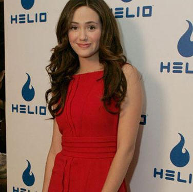 "Emmy Rossum co-hosts Helio's ""Summer Celebration"" with actress Amy Smart."