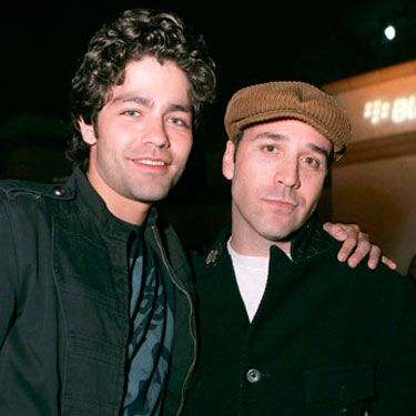 Adrian Grenier and Jeremy Piven at the BlackBerry Curve from AT&T Launch Party in Beverly Hills.