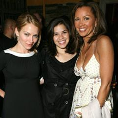 Ugly Betty's Becki Newton, America Ferrara and Vanessa Williams celebrate the wrap of a successful season at the Bungalow Club.