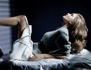 Sweater, skirt, and belt, Derek Lam; shoes, Louis Vuitton, $665.