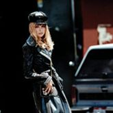 Coat, hat, and pumps, Dolce & Gabbana, dolcegabbana.it&#x3B; tights, Wolford, $55&#x3B; bag, Miu Miu, $530, 888-977-1900