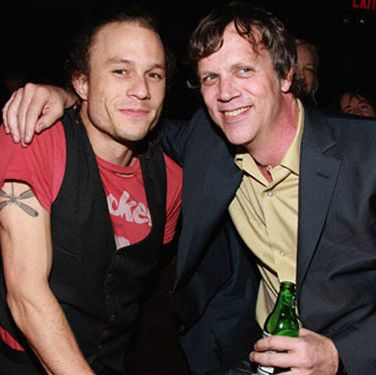 "Heath Ledger and Todd Hayes attend the after party for the ""I'm Not There"" New York premiere."