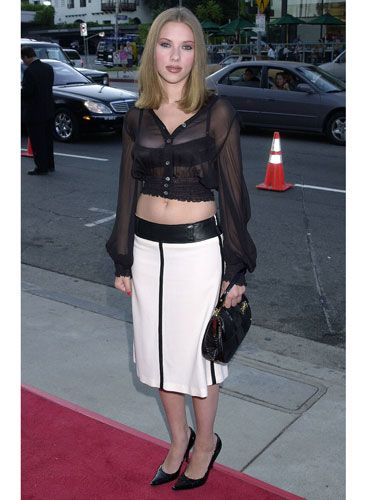 The New York native was only 17 at the premiere of her breakout film <i>Ghost World</i>, and though she wowed critics, her see-through belly shirt and eye makeup overload made her look like she's still playing dress-up.