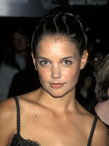 Katie tries out a quirky ballerina bun at the 35th New York Film Festival, back in 1997.